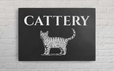 St Fagans Cattery Custom Business Plaque
