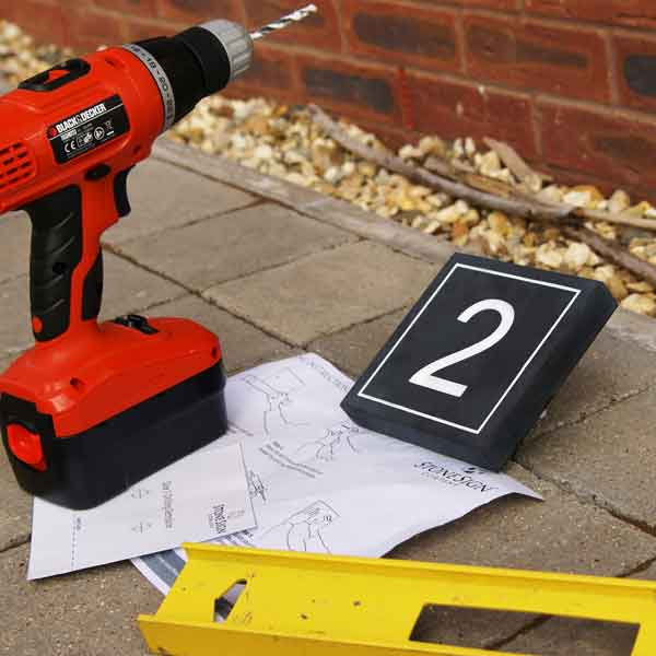 Stone Sign faceless fixings - the tools