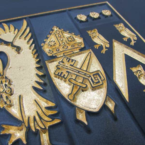 Stone Sign gilded embossed detailing