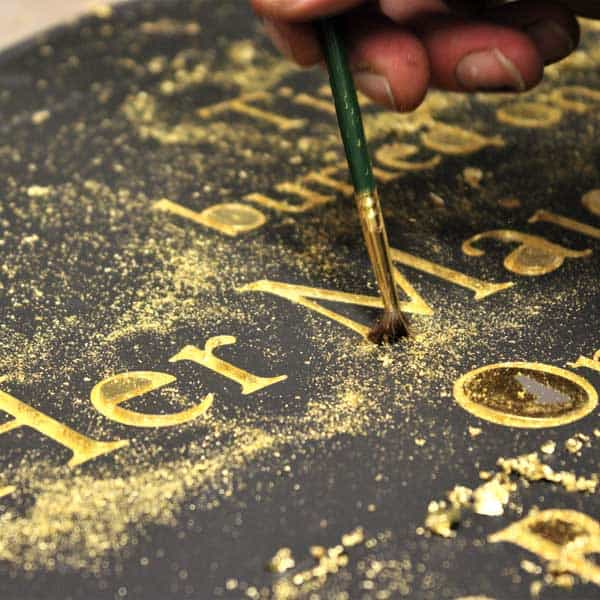 Stone Sign gilded inscription techniques