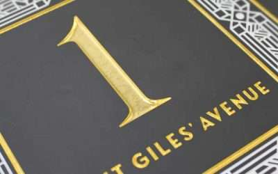 Saint Giles' Avenue Custom House Sign